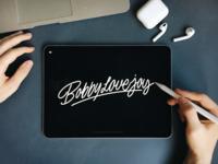 Bobby LoveJoy - Logo Sketch