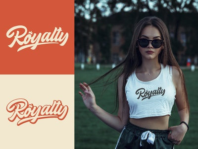 Royalty - Full Logo for Clothing Brand fashion packaging mark clothing streetwear design typo identity branding sketches free type script font typography logotype logo lettering hand lettering calligraphy