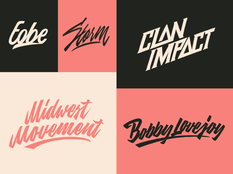 Lettering Sketches Collection fashion packaging mark clothing streetwear design typo identity branding sketches free type script font typography logotype logo lettering hand lettering calligraphy