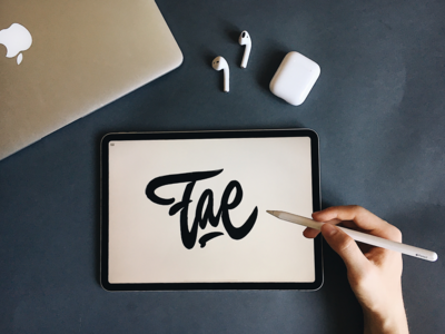 Fae - Lettering Logo Sketch for Shoe Brand from India