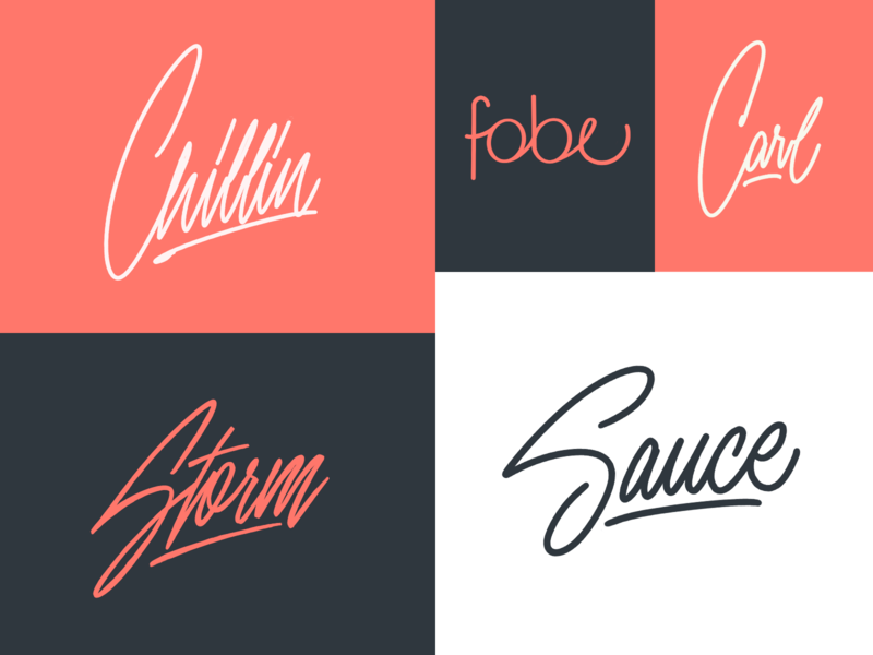 Favorite Signature Lettering Sketches Collection typography typo type streetwear sketches script packaging mark logotype logo lettering identity hand lettering free font fashion design clothing calligraphy branding