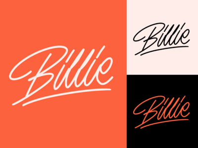 Billie - Lettering Logo Sketch for PR Manager