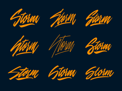 Storm - Lettering Logo Sketches for Porsche-tuning company