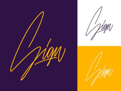 Sign - Lettering Logo