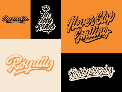 Lettering Logos Collection typography typo type streetwear sketches script packaging mark logotype logo lettering identity hand lettering free font fashion design clothing calligraphy branding