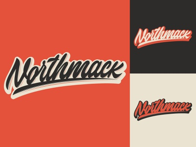 Northmack - Logo for Swim Team from New York typography typo type streetwear sketches script packaging mark logotype logo lettering identity hand lettering free font fashion design clothing calligraphy branding