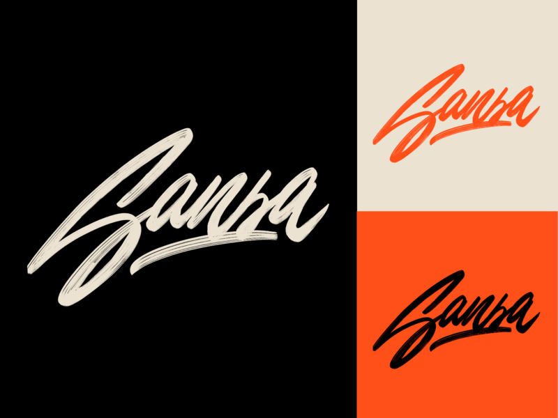 Sansa - Lettering Logo Sketch typography typo type streetwear sketches script packaging mark logotype logo lettering identity hand lettering free font fashion design clothing calligraphy branding