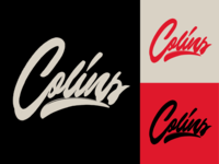 Colins - Lettering Logo Sketch for Photographer