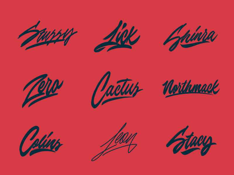 Logo Sketches Collection typography typo type streetwear sketches script packaging mark logotype logo lettering identity hand lettering free font fashion design clothing calligraphy branding
