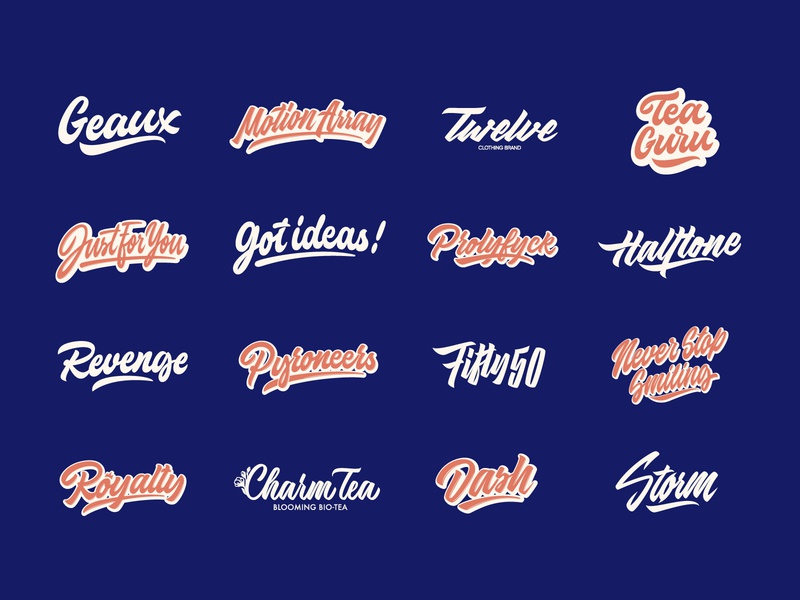 Lettering Logos & Prints Collection Vol. 3 typography typo type streetwear sketches script packaging mark logotype logo lettering identity hand lettering free font fashion design clothing calligraphy branding