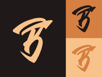 BF - Monogram logo sketch for personal training fitness company