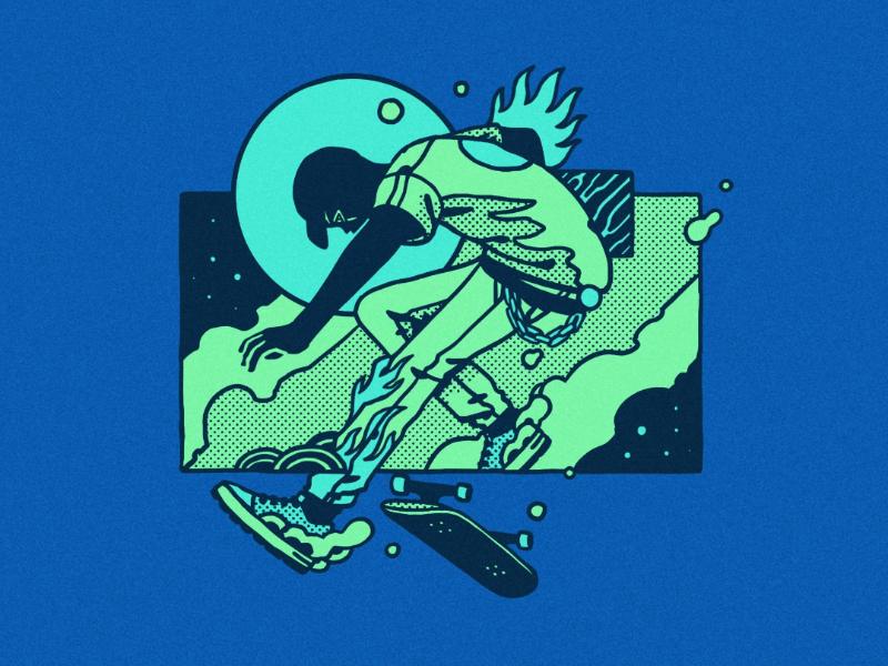 Skatemachina rasefour skate skateboard illustration drawing artwork