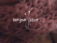 Bonjour, Hiver knitting wool winter logo brand