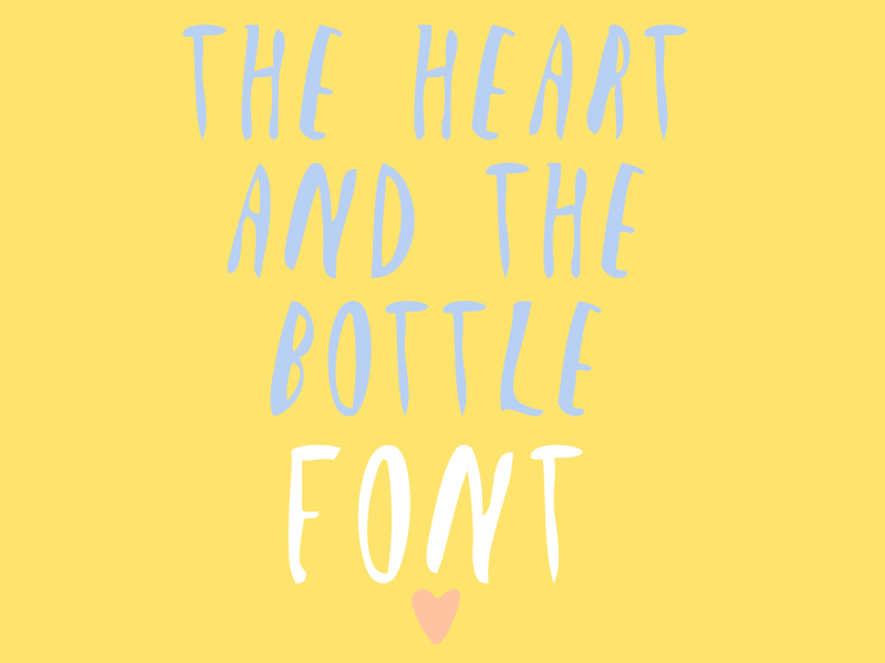 The Heart and the Bootle   Font font calligraphy oliver jeffers