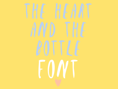 The Heart and the Bootle | Font font calligraphy oliver jeffers