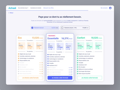 Acheel, Insurance plans page website branding and identity design userinterface user interface uxui uidesign ui uxdesign ux cards card plan plans insurance