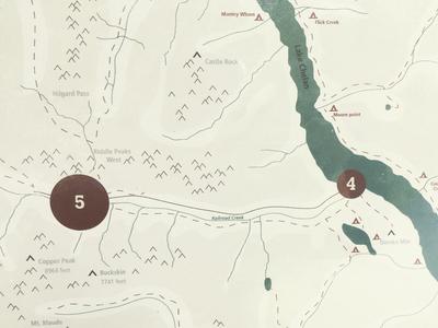 Holden Village Kiosk graphic design kiosk map