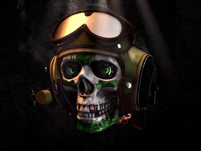 GIF ▸ Skull Series | Aviator ☠