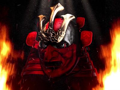 GIF ▸ Skull Series | Samurai ☠