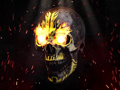 GIF ▸ Skull Series | Fire Culture ☠
