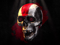 GIF ▸ Skull Series | Tribal Warrior ☠