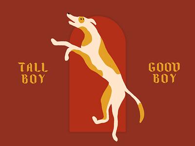 Tall Boy slab type typography graphic design dogs design illustration project illustration