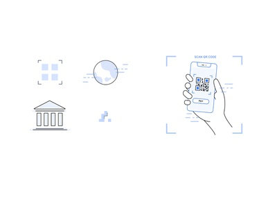 QR code illustration set ui ux design ui ux ui  ux design ui design visual design digital illustrator illustrations icon digital design