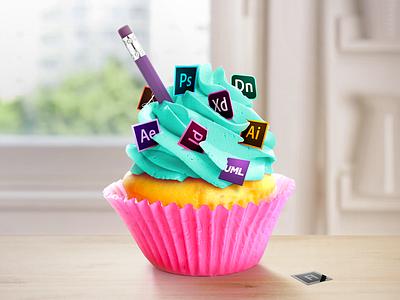 Designer's Cupcake retouche photo photo retouch cupcake