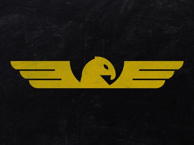 Client Logo wings yellow mean lookin bird texture black