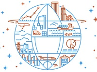 Global Logistics Illustration