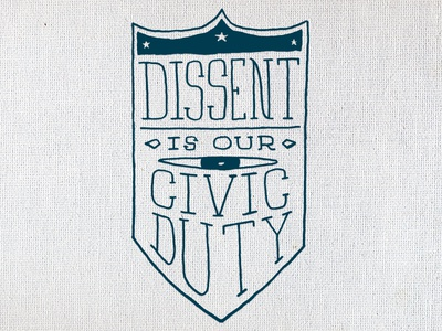 Bandana Detail 4 screen print protest civic dissent shield