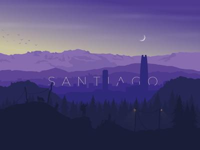 Santiago de Chile, Nature Sunset