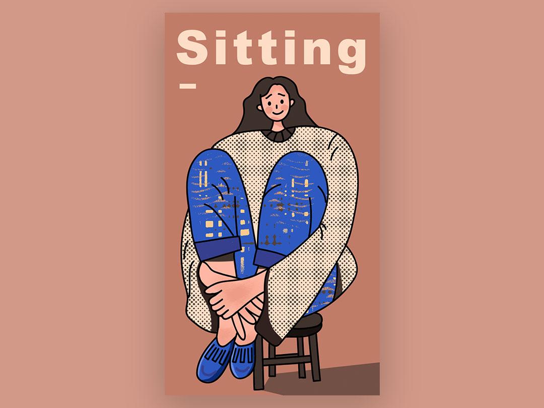 sitting design illustration