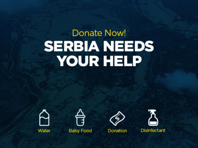 #Serbiafloods awareness cause donation floods help serbia urgent