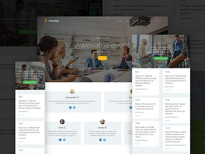 WIP - Framer event page ui ux design web website web design modern flat clean minimal layout landing