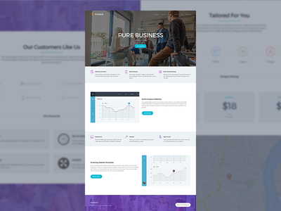 WIP - Framer corporate page ui ux design web website web design modern flat clean minimal layout landing