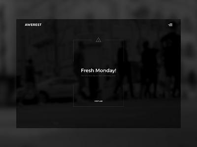 Awerest - Home page illustration interactive animation ui design web design website web minimal clean