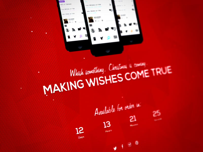 [Free] Superxmas - Xmas Splash Page free freebie design app bootstrap clean ios ipad iphone landing page minimal responsive template web website simple onepage christmas countdown promotion red white splash download