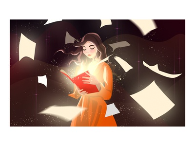 The girl who opened the magic book