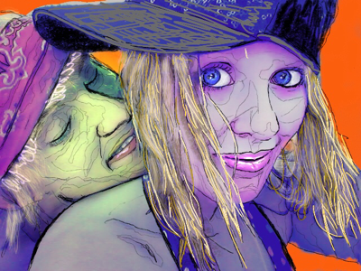 Halloween inspired love sketch procreate love digital painting halloween