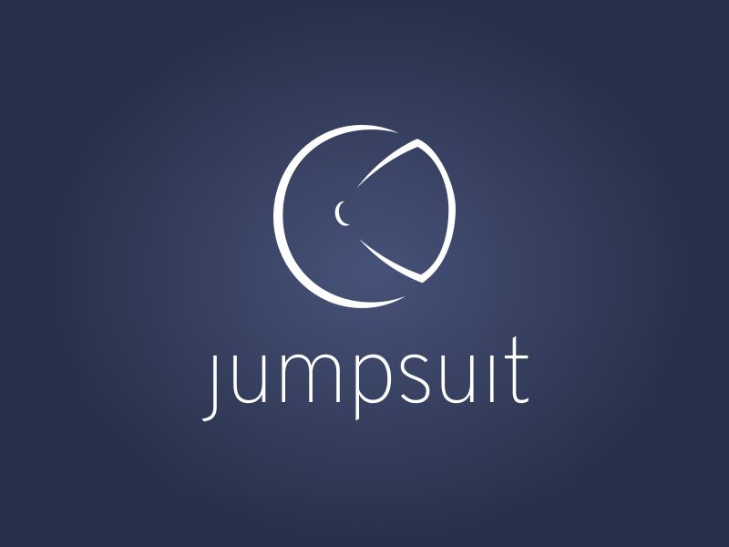 Jumpsuit Logo zab space redux react logo jumpsuit js javascript helmet framework branding astronaut