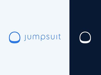 Jumpsuit Logo (Take 2) helmet space logo branding js javascript framework react static