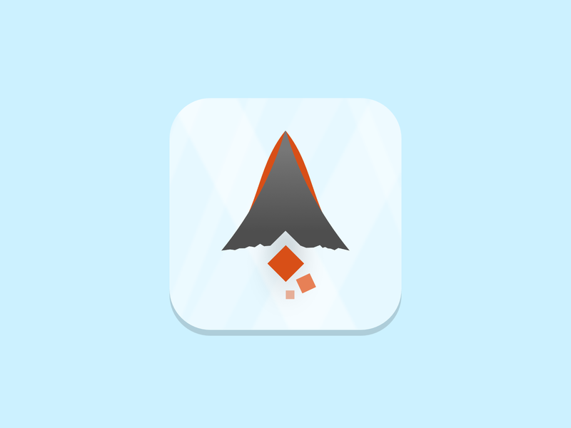 Fire Mountain Icon branding logo lava fire mountain ios icon