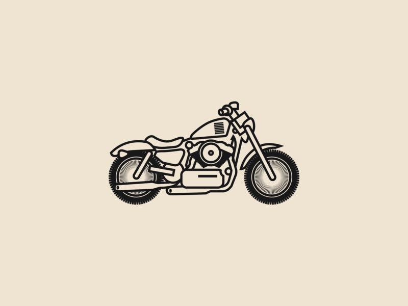 Motorcycle Icon iconography branding brand identity design logo icon logo identity icon icon design logo mark graphic  design logo identity logo logo design