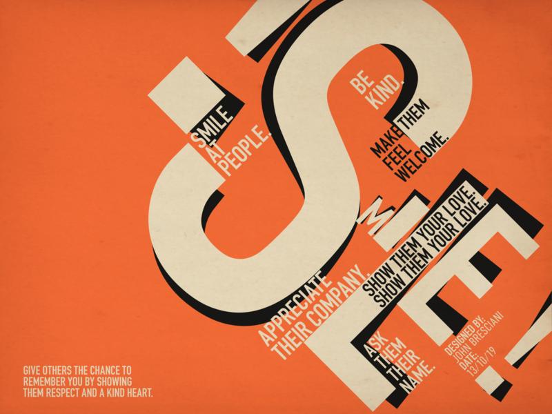 Smile Typographic Piece swiss poster poster design posters poster swim type design typography typedesign typo type art typeface type graphic  design