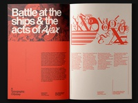 Spread for Typographic Odyssey Magazine layout exploration layout design layout editorial design swiss poster swiss design swiss style swiss typography typeface typo type