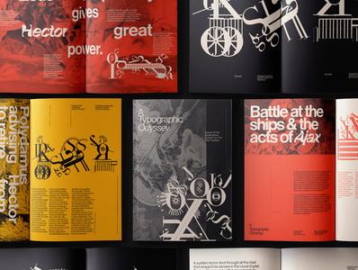 A Typographic Odyssey Magazine layout layout design editorial layout editorial design swiss poster swiss design swiss typography art typeface typography type typo