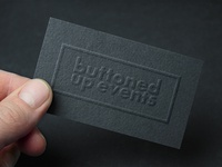 Business cards for Buttoned Up Events