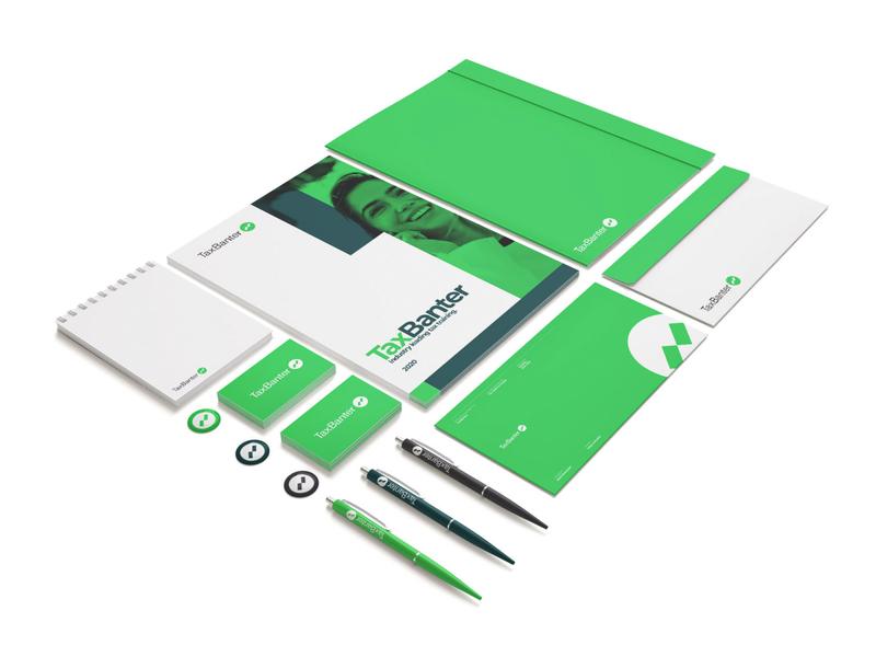TaxBanter Collateral logo identity rebrand stationery design stationery branding brand identity graphic  design logo logo design