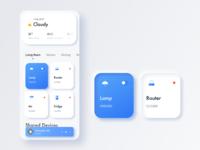 Smart Home-Neomorphism card mobile ui design app ui